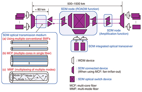 Space Division Multiplexing Optical Transmission Technology